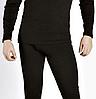 ,,,Термо-подштанники кальсоны мужские теплые с ширинкой, кофта в подарок !! Стретч-флис,черный 180-190рост