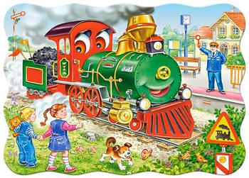 """Пазлы Castorland B-03433 """"Зеленый локомотив"""" на 30 элементов (B-03433)"""