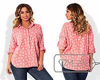 Женская рубашка с принтом сердечек