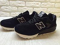 Кроссовки мужские New Balance MRT580 Black (в стиле нью бэлэнс) черные