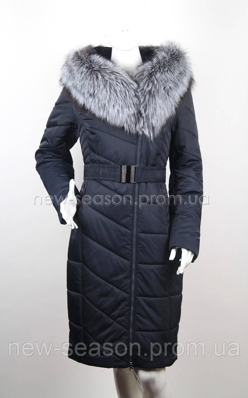 Пуховик на верблюжьей шерсти с чернобуркой Klasika Moda 1696-5