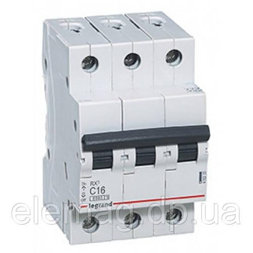 Автоматический выключатель 3 полюса 40A тип C 4,5кА Legrand серии RX³