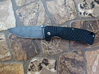 Складной нож ручной работы c дамаска, основа Ganzo Black G722