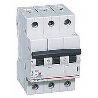 Автоматический выключатель 3 полюса 16A тип C 4,5кА Legrand серии RX³