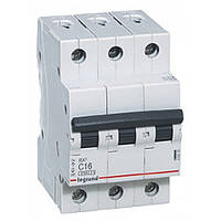 Автоматический выключатель 3 полюса 10A тип C 4,5кА Legrand серии RX³