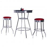 Комплект Roxy красный стол барный и 2 стула (CZ-1503)