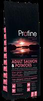 Сухой корм для собак с аллергией Profine Adult Salmon & Potatoes с лососем и картофелью. Упаковка 15 кг.