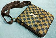 Стильная сумка клатч через плечо Louis Vuitton коричневая