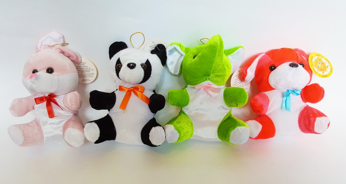 Набор игрушек из 4-х животных (16 см)
