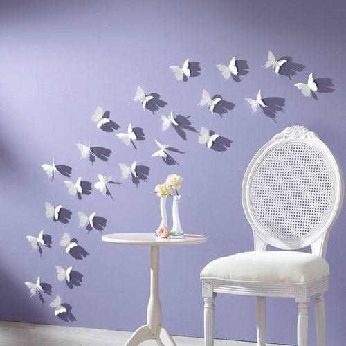 3D бабочки, цветы, стрекозы для декора