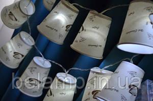 Гирлянда на батарейках из стаканчиков: декор своими руками