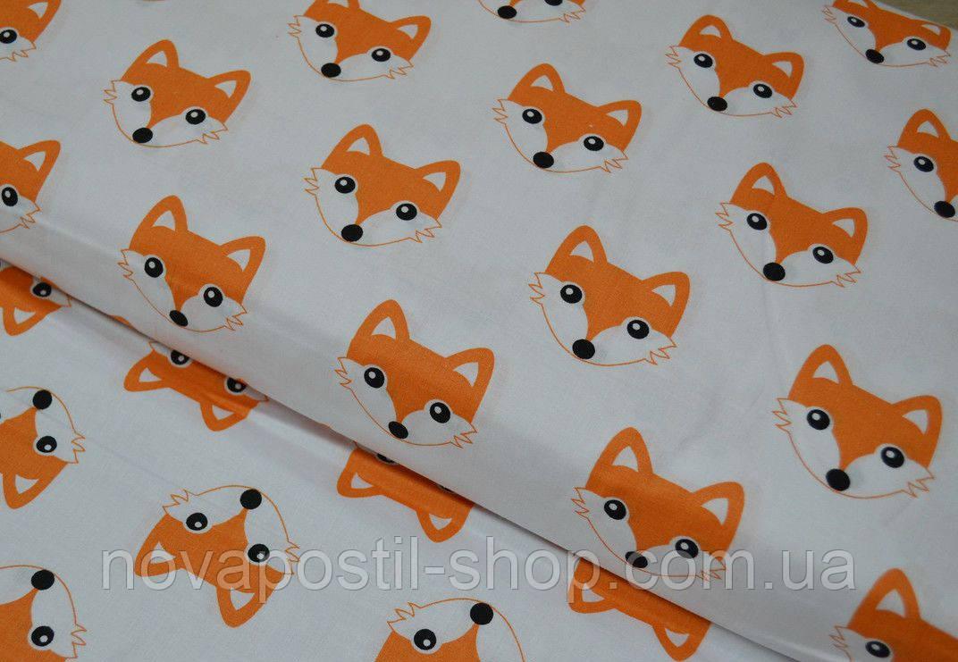 Детское постельное белье Лисички оранжевые (100% хлопок)