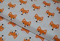 Детское постельное белье Лисички оранжевые (100% хлопок), фото 1