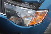 Защита фар Sim для Mitsubishi L200 2006-12 темная 2008