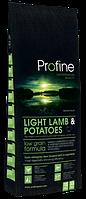 Сухой корм для нормализации веса собаки Profine Light Lamb & Potatoes с ягненком и картофелем. Упаковка 15 кг.