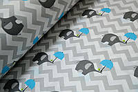 Детское постельное белье Слоники-Зонтики 2 (100% хлопок), фото 1