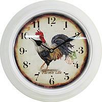 Металлические настенные часы Петух, символ 2017 года