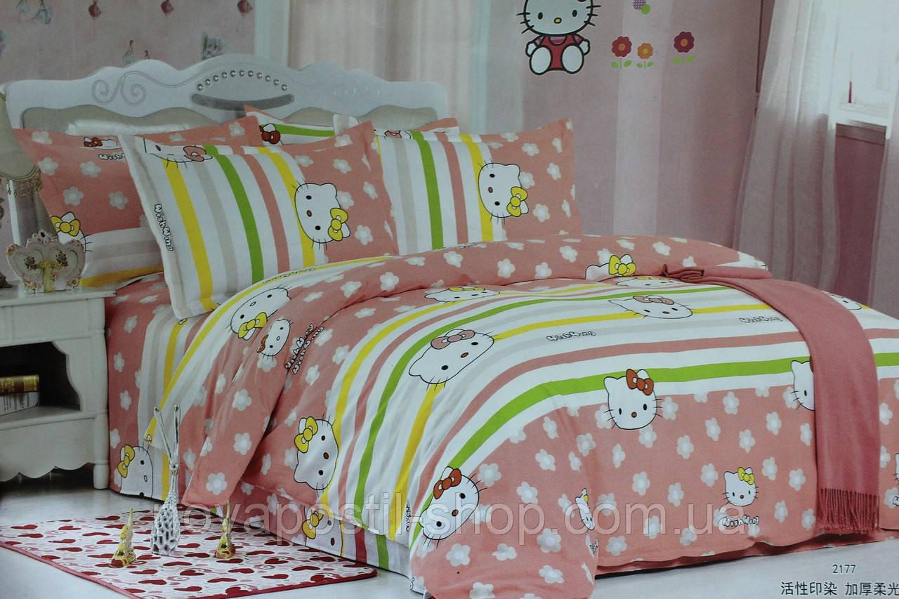 Детское постельное белье из сатина Китти Полянка 1