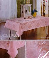 Розовая скатерть с узором