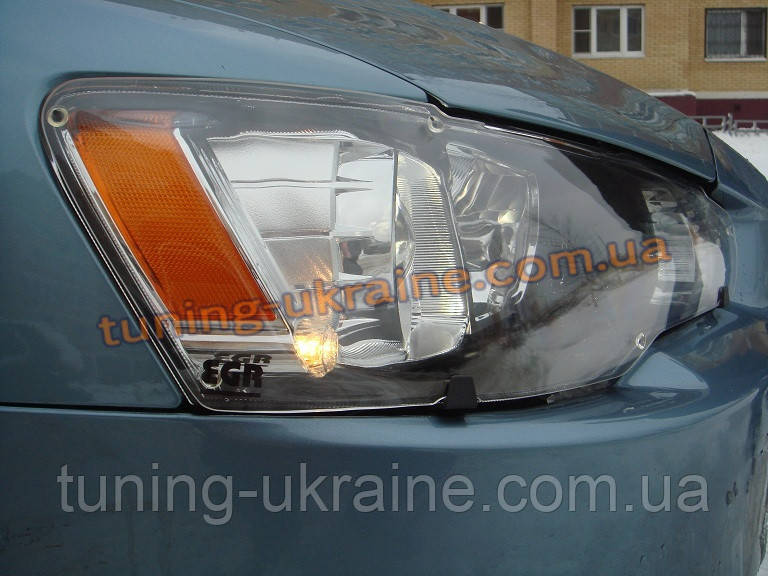 Защита фар Sim для Mitsubishi Lancer 2007-16 прозрачный