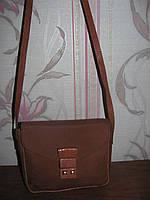 Натуральная замшевая сумка Mondi на длинной ручке