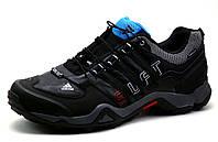 Кроссовки Adidas Terrex, мужские, кожаные, черные, фото 1