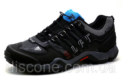 Кроссовки Adidas Terrex, мужские, кожаные, черные