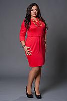 Женское платье с вышивкой больших размеров. Размеры 46-58