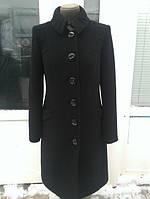 Кашемировое пальто на пуговицах с драпировкой