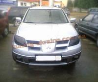 Защита фар Sim для Mitsubishi Outlander 2001-06 темная 2003