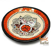 Терракотовая тарелка декоративная 25 см