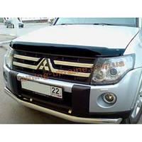 Защита фар Sim для Mitsubishi Pajero 2006-14 прозрачный 2011