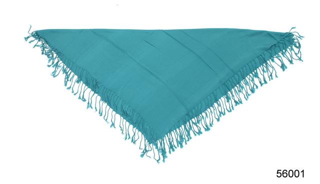 Однотонный бирюзовый шерстяной платок 3