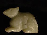 Античный Нефрит.Резная Фигурка Крысы из Цельного Природного Минерала