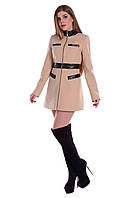 Пальто Фрея с кожаными вставками шанель на молнии