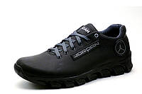 Кроссовки мужские Jordan, натуральная кожа, черные, фото 1