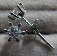 Бриллиантовые Серьги.Металл-Платина .950