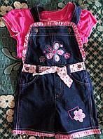 Новый джинсовый ромпер с футболкой лето, весна размер 5
