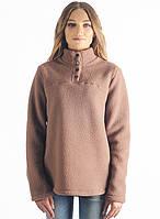 Женская,теплая,флисовая зимняя кофта бежевого цвета со стойкой.Не дорого