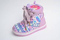 Ботиночки с орнаментом демисезонные для девочки 23,25,26 раз.
