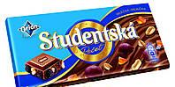 Шоколад Studentska молочный с арахисом и изюмом 180 гр