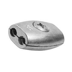 Зажим для троса бочкообразный 2 мм - бочонок двойной обжимной