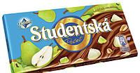 Шоколад Studentska молочный с грушей и арахисом 180 гр
