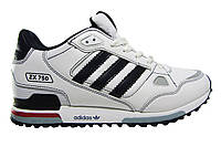 Мужские  кроссовки Adidas ZX  750, натуральная кожа, белые, Р.  41 43 45 46