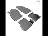 Коврики в салон  Opel Corsa D (06-) (полиур., компл - 4шт)