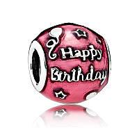 Шарм С днем рождения из серебра 925 пробы пандора (pandora)