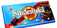 Шоколад Studentska черный с арахисом и изюмом 180 гр