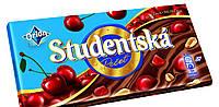 Шоколад Studentska молочный с вишней и арахисом 180 гр