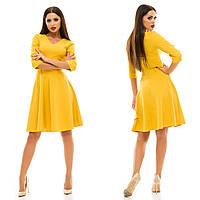 Женское модное платье MINI 129 / горчица