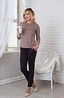Стильный женский костюм Бритни из кофточки и брюк из трикотажа Lacosta 44-56 размеры